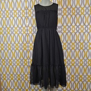 Lulu's Dresses - LULUS Afternoon Stroll Polka Dot Dress High Neck